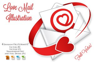 Love mail Illustration