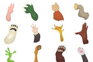 Animal paw vector animalistic pets c
