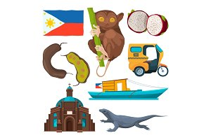 Landmarks and traditional symbols of philippines