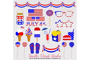 4 July Clipart Food drink American