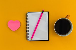 Stationery notebook love coffee