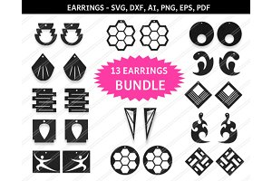 Bundle earrings svg,dxf,ai,eps,png
