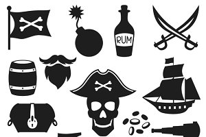 Objects on pirate theme.