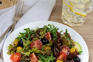 Summer Salad - With avocado, olives,