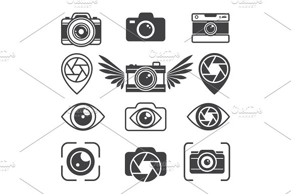 Stylized Pictures Of Different Photo Equipment