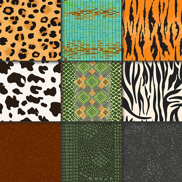 Animal skins vector pattern seamless
