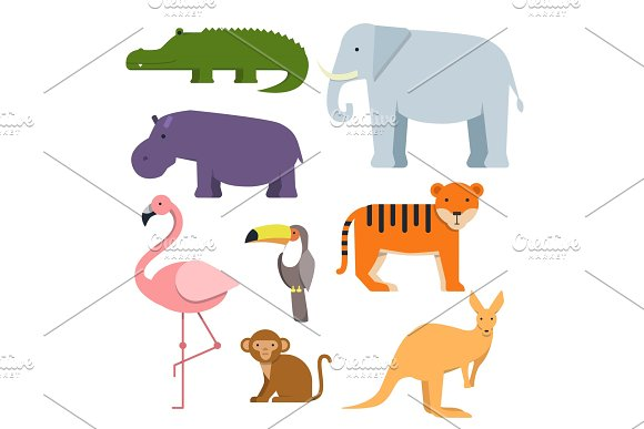 Cartoon Clipart Of Wild Animals Australian Fauna