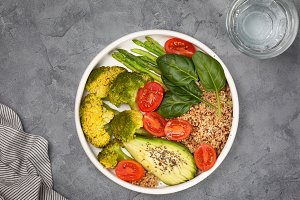 quinoa and vegetables