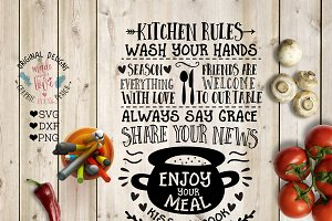 Kitchen Rules Cut File & Printable