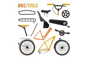 Constructor of different bicycle parts and equipment