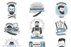Barbershop logo vector barber cuts
