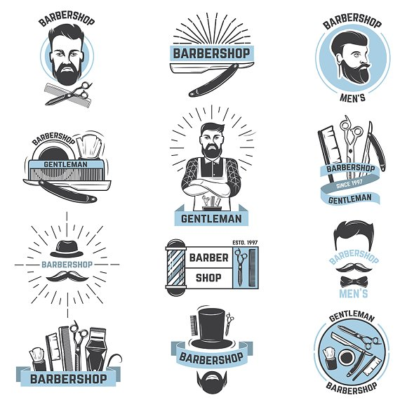 Barbershop Logo Vector Barber Cuts