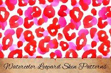 Watercolor leopard skin patterns