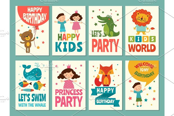 Design Template Of Cards For Childrens Labels For Packaging