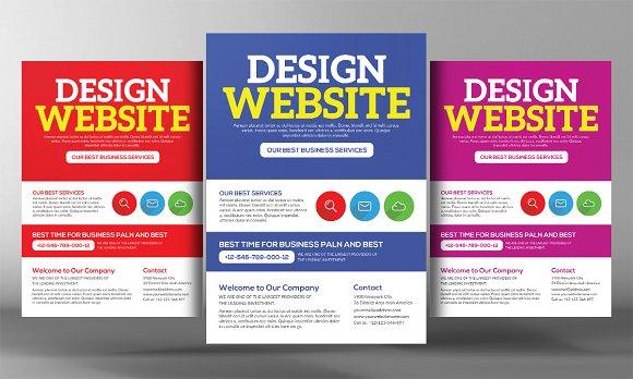 Website Design Agency Flyer Template