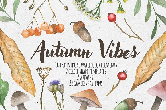 Autumn Vibes Watercolor Set
