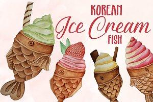 Koran Ice Cream Fish Clip Art