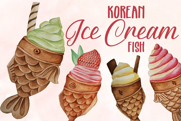 Koran Ice Cream Fish Clip Art