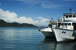 Tourist boats, Thailand