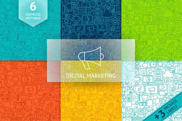 Marketing Line Tile Patterns
