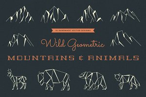 Wild Geometric Mountains and Animals