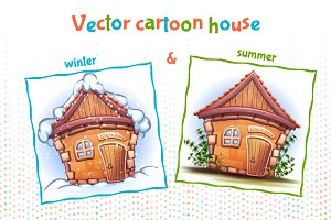 Vector Cartoon House