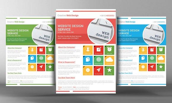 Website Design Services Flyer