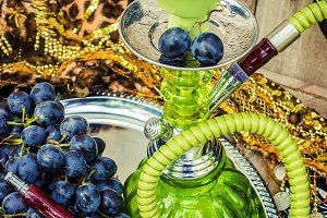 Hookah, tobacco flavor of the grapes