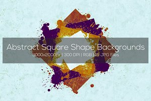 Abstract Square Shape Backgrounds