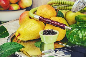 Hookah. Tobacco flavor of pear.