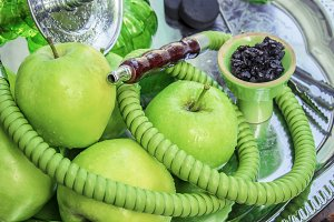 Hookah. Tobacco  green Apple.