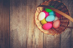 Happy Easter. Selective focus.