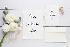 Wedding Paper Mockup-handmade paper
