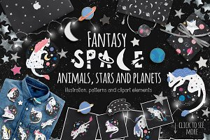 Fantasy Space.IllustrationsPatterns