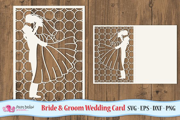 Bride And Groom Folding Card