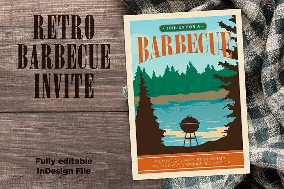 Retro Vintage BBQ Invite