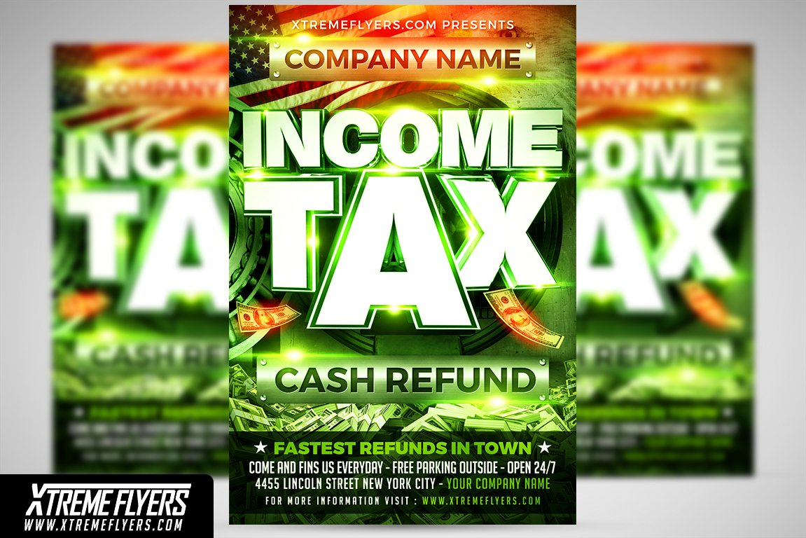 Income Tax Flyer Template ~ Flyer Templates ~ Creative Market