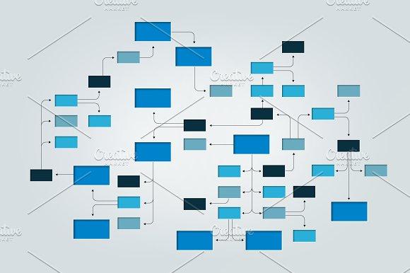 Mega Mind Map Flowchart Infographic