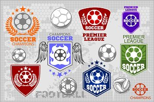 Soccer labels + 30 players