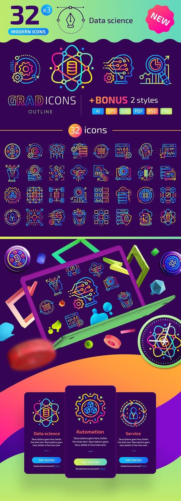 32 Data Science GRADICONS
