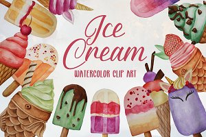 Ice Cream Clip Art set