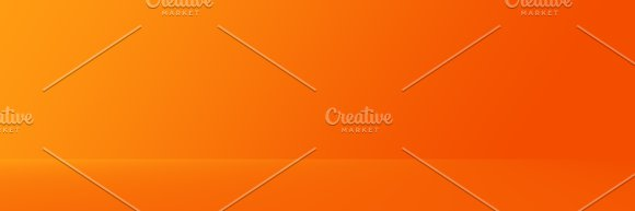 Studio Background - Abstract Bright luxury orange Gradient horizontal studio room wall background for display product ad website template.