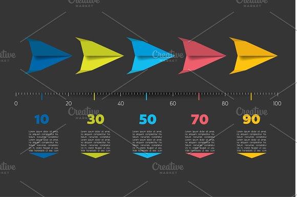 Timeline Arrow Template