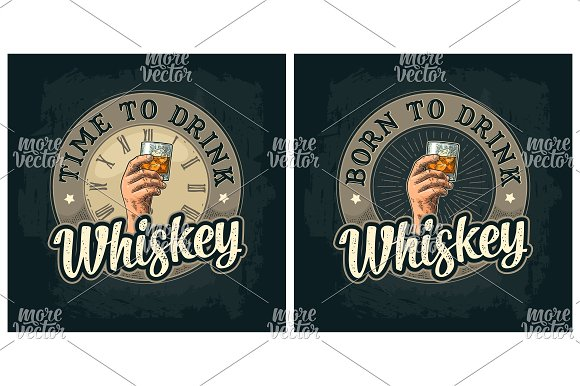 Hand Hold Glass Whiskey Engraving