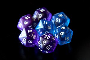 Purple and Blue D20