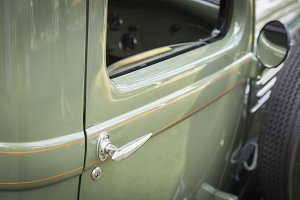 Details of Beautiful Vintage Car