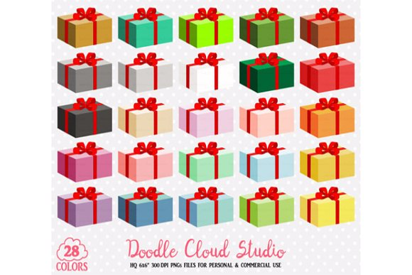 28 Colorful Present Clipart Birthday