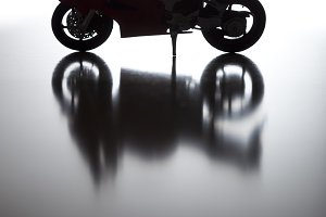 Silhouette of Street Motorcycle