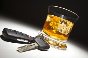 Alcoholic Drink and Car Keys Under S