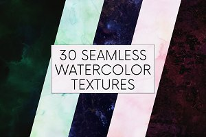 30 Seamless Watercolor Textures